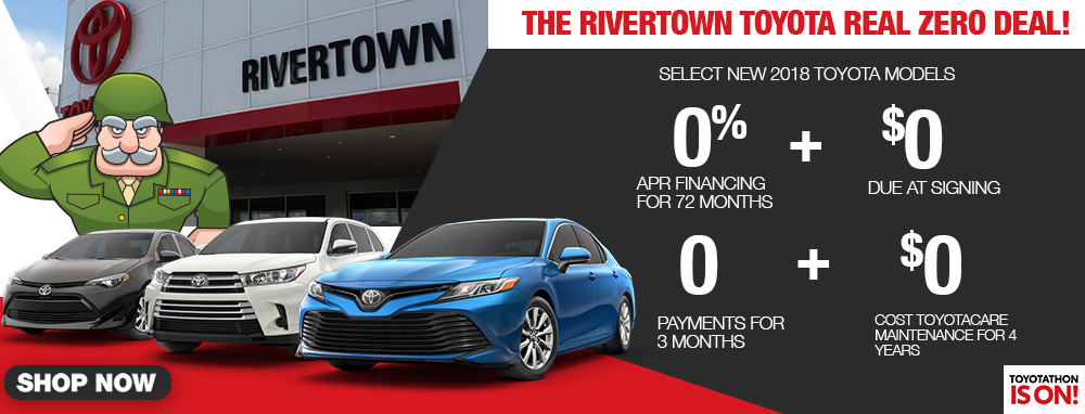 The Rivertown Toyota Real Zero Deal
