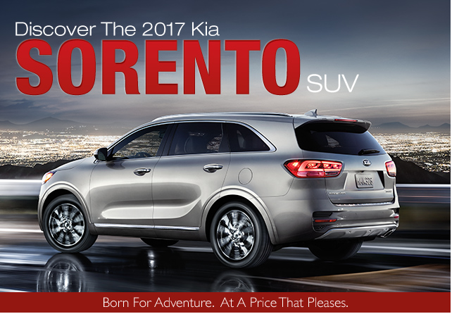 Buy lease new 2017 kia sorento mid-size sport utility vehicle low price special incentives southern kia greenbrier Chesapeake virginia
