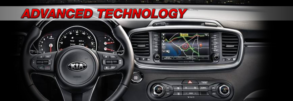 2017 Kia Sorento advanced technology control panel at Southern Kia Lynnhaven in Virginia Beach, VA