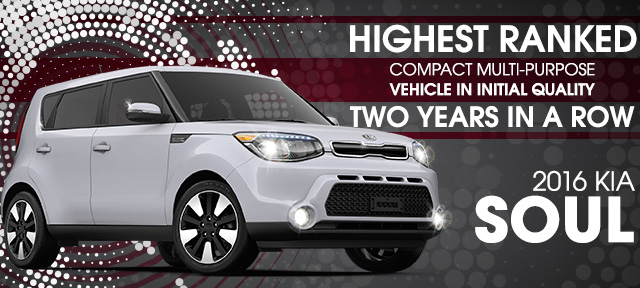 Highest Ranked Compact Multi-Purpose Vehicle In Initial Quality Two Years In A Row At Kia Lynhaven