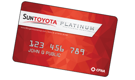 Sun Toyota Platinum Preferred Credit Card.