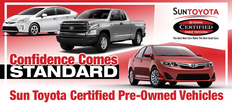 The Sun Toyota Certified Pre-Owned Vehicle Program