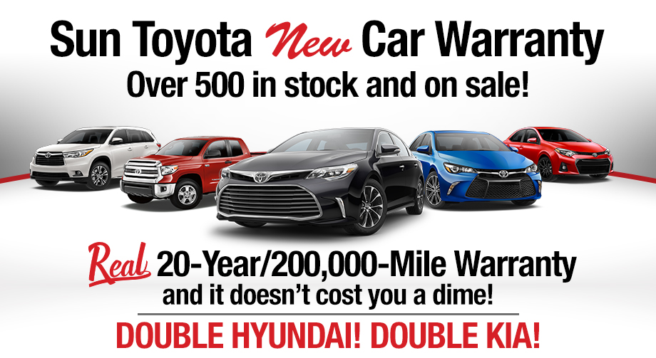 Sun Toyota Certified Used Cars | Real 10 Year/100,000 Mile Warranty