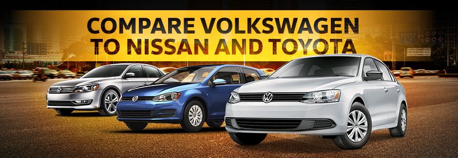 Compare Volkswagen, Toyota, Nissan