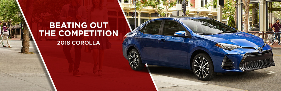 The 2018 Corolla compares to the 2018 Honda Civic at Toyota of Rock Hill in Rock Hill, SC