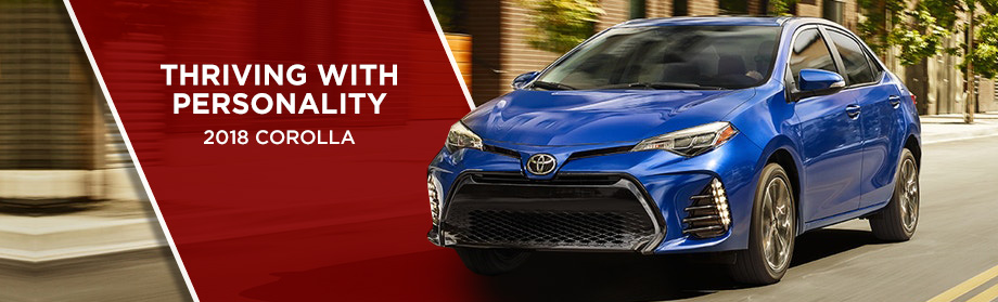 Exterior of the 2018 Toyota Corolla at Toyota of Rock Hill near Fort Mill, SC