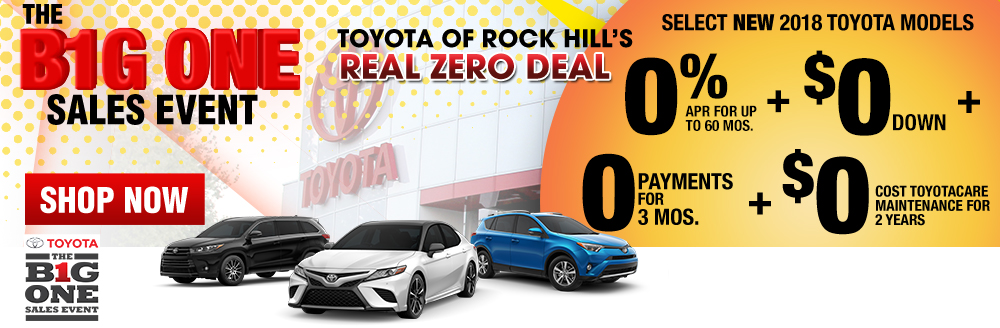 Toyota Of Rock Hill's Real Zero Deal!