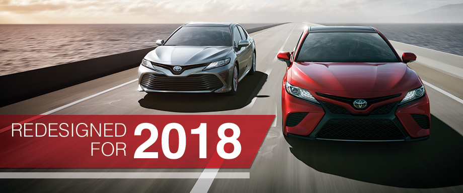 The 2018 Camry is available at Toyota of Rock Hill