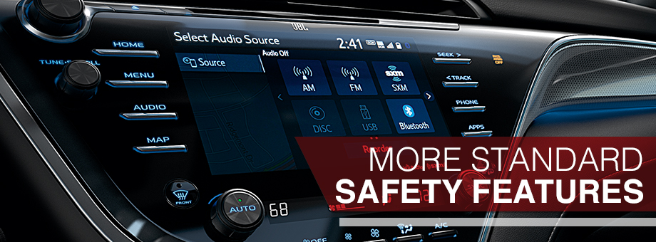 Safety features and interior of the 2018 Camry - available at Toyota of Rock Hill