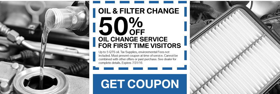 Oil Change Service For First Time Visitors