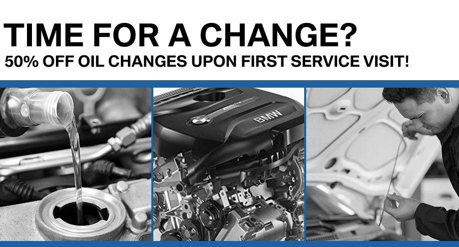 Time For an Oil Change? 50% Off Oil Changes Upon First Service Visit
