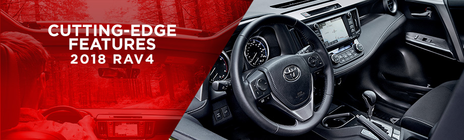 Safety features and interior of the 2018 Toyota RAV4 - available at World Toyota near Alpharetta and Atlanta, GA