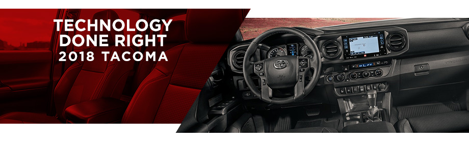 Safety features and interior of the 2018 Toyota Tacoma - available at World Toyota near Alpharetta and Atlanta, GA