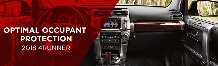 Safety features and interior of the 2018 Toyota 4Runner - available at World Toyota near Alpharetta and Atlanta, GA