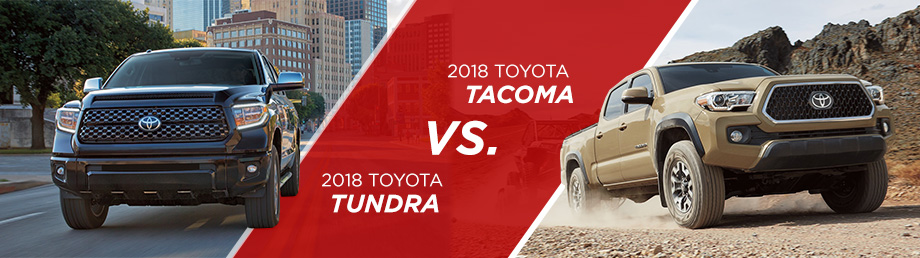 The 2018 Toyota Tacoma Vs 2018 Toyota Tundra is available at World Toyota in Atlanta, GA
