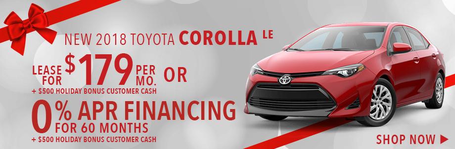 New 201 Toyota Corolla LE