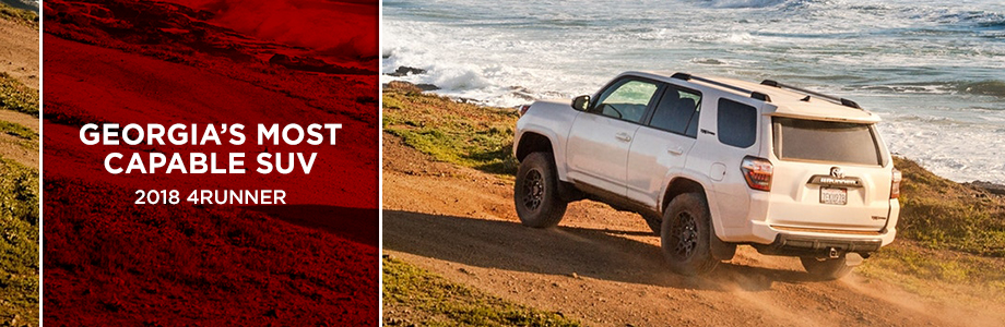 The 2018 4Runner is available at World Toyota in Atlanta