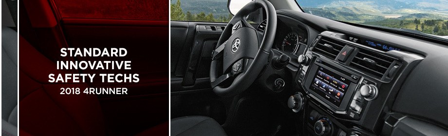 Safety features and interior of the 2018 4Runner - available at World Toyota near Sandy Springs and Alpharetta, GA