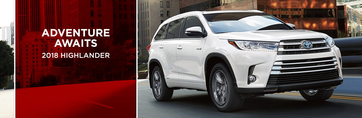 The 2018 Highlander is available at World Toyota in Atlanta