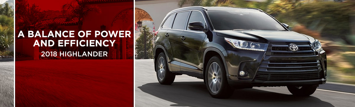 Exterior of the 2018 Highlander at World Toyota near Sandy Springs, GA