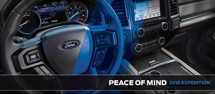 Safety features and interior of the 2018 Expedition - available at Brighton Ford in Brighton near Denver