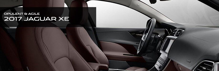 Safety features and interior of the 2017 XE - available at Crown Jaguar near St. Petersburg and Clearwater