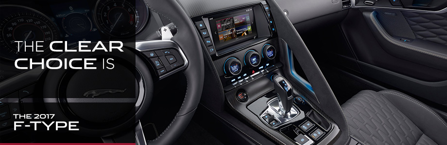 Safety features and interior of the 2017 F-TYPE - available at Crown Jaguar near Clearwater and Palm Harbor