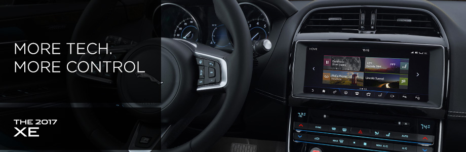 Interior of the 2017 XE at Crown Jaguar near Clearwater