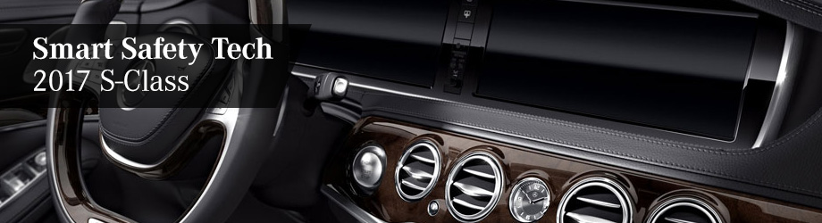 Safety features and interior of the 2017 S-Class - available at Crown Eurocars of Dublin near Columbus and Easton Town Center
