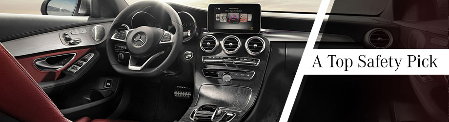 Safety features and interior of the 2017 C-Class - available at Crown Eurocars of Dublin near Columbus and Springfield