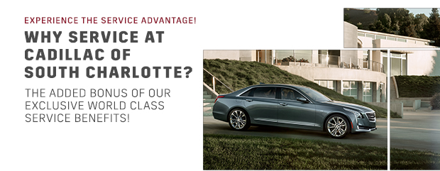 Service advantage benefits package cadillac of south charlotte, pineville north carolina