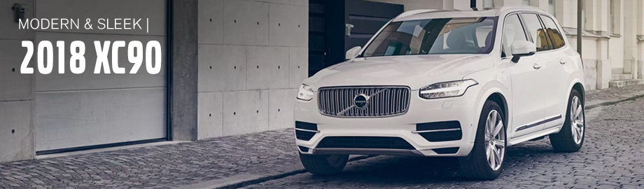 Exterior of the 2018 XC90 at Crown Volvo Cars near St. Petersburg