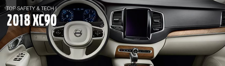Safety features and interior of the 2018 XC90 - available at Crown Volvo Cars in Clearwater near Dunedin and St. Petersburg