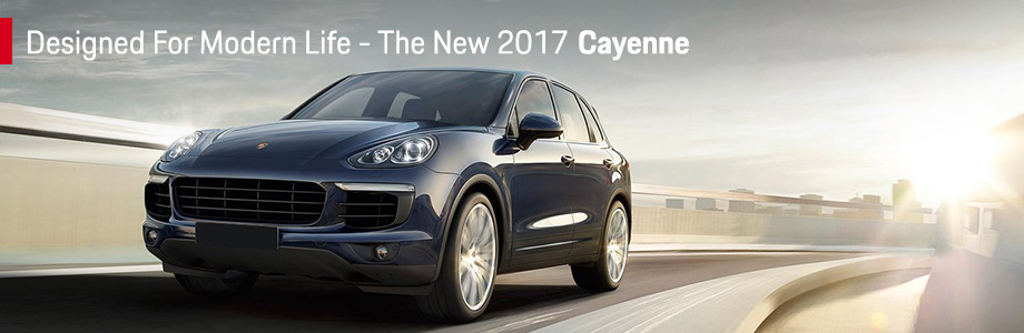 Exterior of the 2017 Cayenne at  Capital Porsche near Panama City