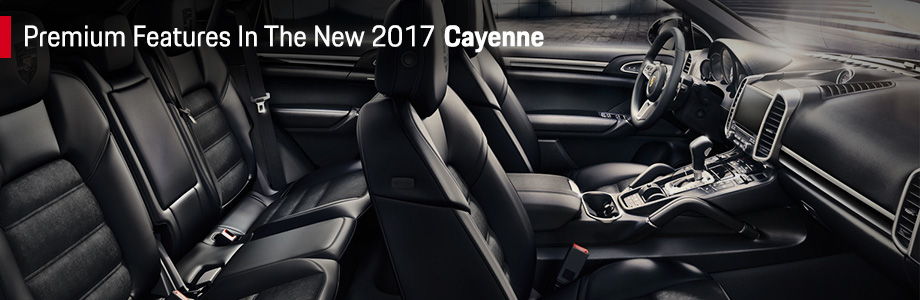 Safety features and interior of the 2017 Cayenne - available at Capital Porsche near Lake City