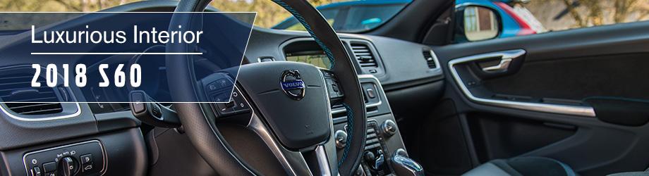 Interior of the 2018 S60 at Capital Volvo Cars near Marianna