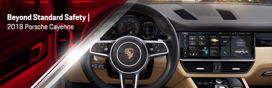 Safety features and interior of the 2018 Cayenne - available at Capital Porsche near Lake City  and Panama City