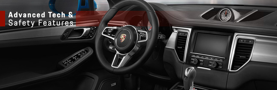 Safety features and interior of the 2017 Macan - available at Capital Porsche near Lake City and Tallahassee