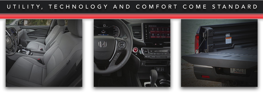 Utility, Technology And Comfort Come Standard