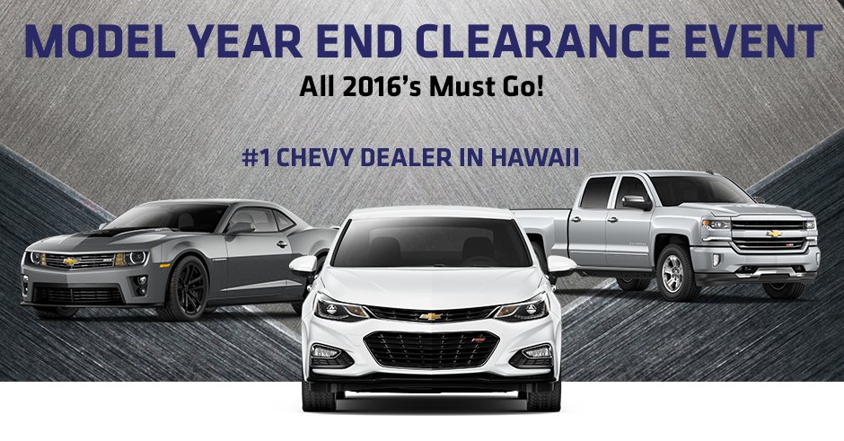 Model Year End Clearance Event New Chevys For Sale Near Honolulu