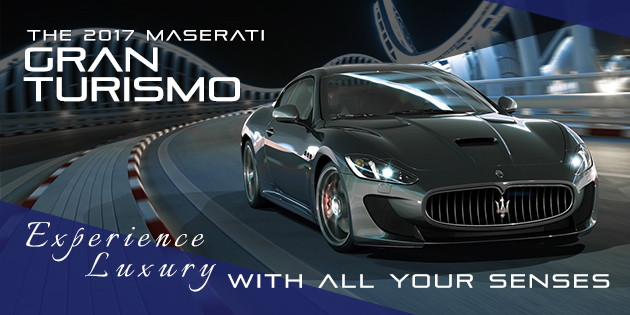 Experience power and luxury with all your senses. Test-drive the 2017 Maserati GranTurismo Coupe or Convertible in Naperville Illinois, today.