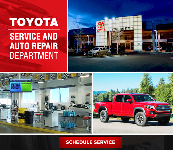 Schedule Your Service Today at Mountain States Toyota