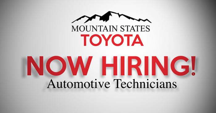 Mountain States Toyota Now Hiring!