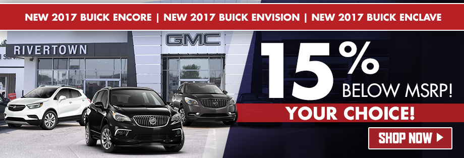 New 2017 Buick Encore, Envision and Enclave
