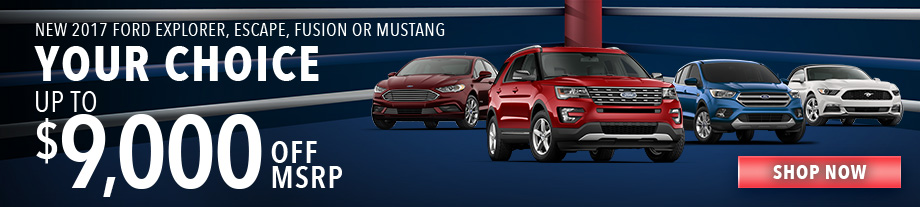 New 2017 Ford Explorer, Escape, Fusion or Mustang