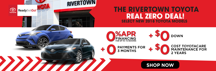 The Rivertown Toyota Real Zero Deal!