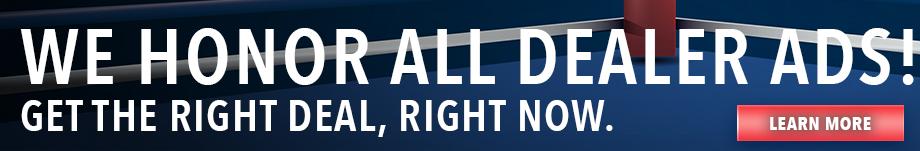 We Honor All Dealer Ads