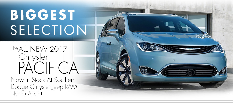 all new chrysler pacifica minivan affordable low price southern dodge chrysler jeep ram Norfolk Virginia