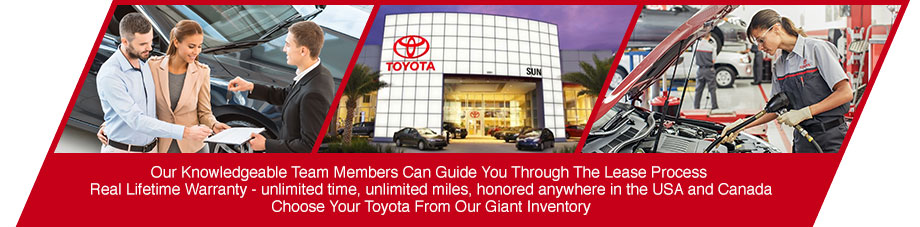 lease new toyota car sedan suv crossover low monthly payments special incentives sun toyota tampa st. petersburg clearwater florida