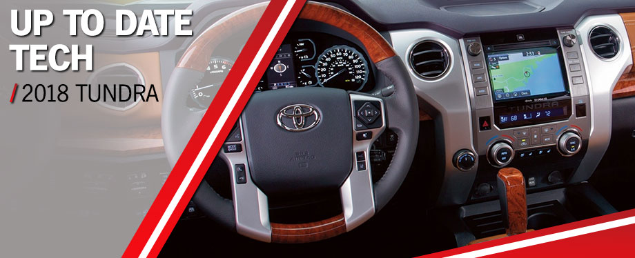 Safety features and interior of the 2018 Toyota Tundra - available at World Toyota near Alpharetta and Atlanta, GA